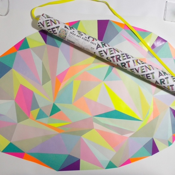 NEW IKEA ART EVENT 2015 COLLECTION POSTER,MOTIF CREATED BY NURIA MORA